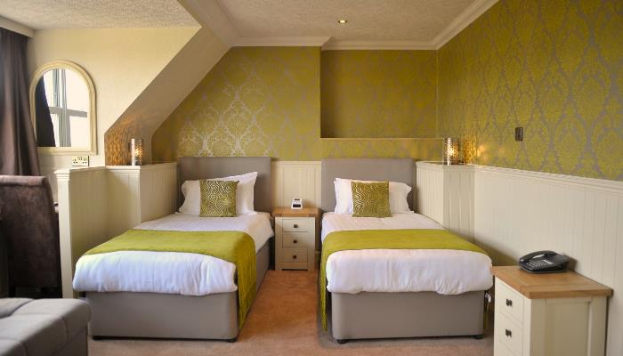 Twin and family bedrooms available