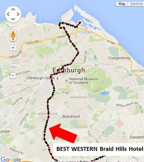 Braid Hills Hotel bus route map
